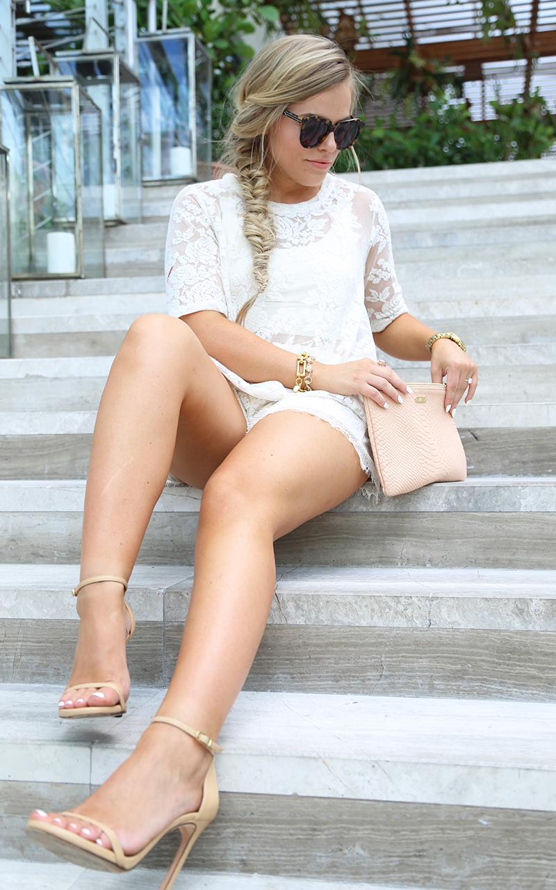 Cream Lace Shorts Set4