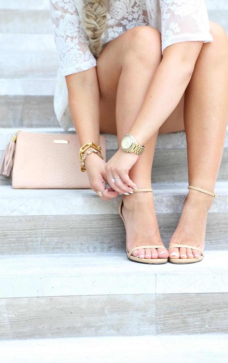 Cream Lace Shorts Set7
