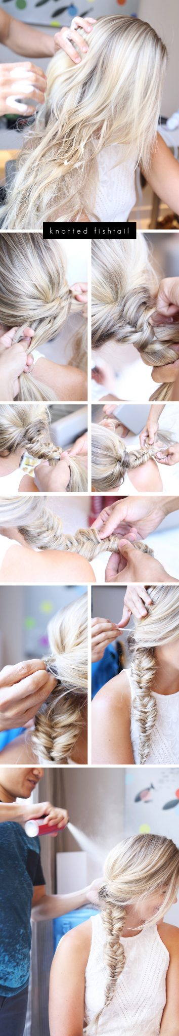 knotted-fishtail-braid-tutorial, summer-hair-style