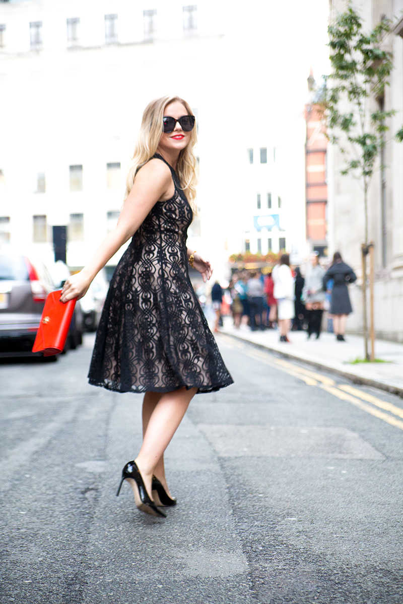 Black + Nude Lace Dress2