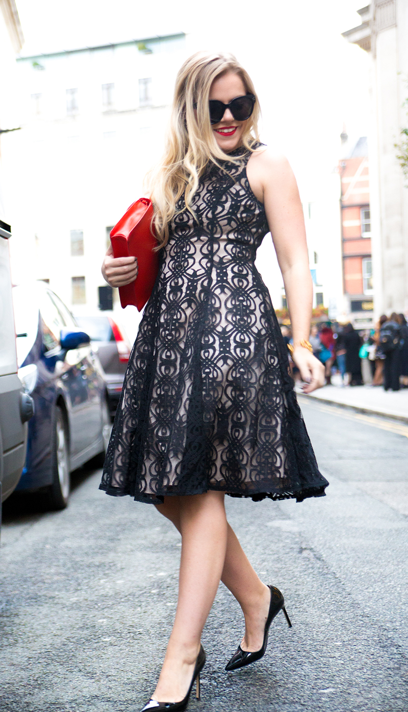 Black + Nude Lace Dress5