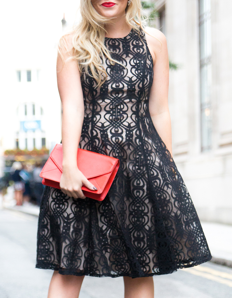Black + Nude Lace Dress6