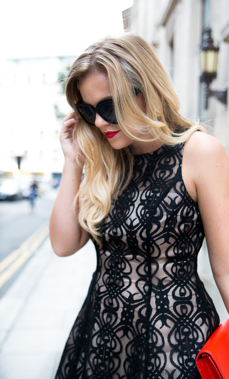 Black + Nude Lace Dress7