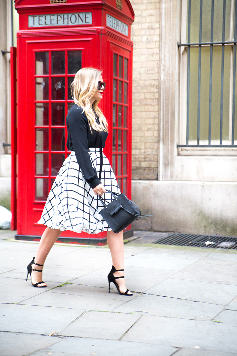 black and white checkered skirt, bebe check skirt