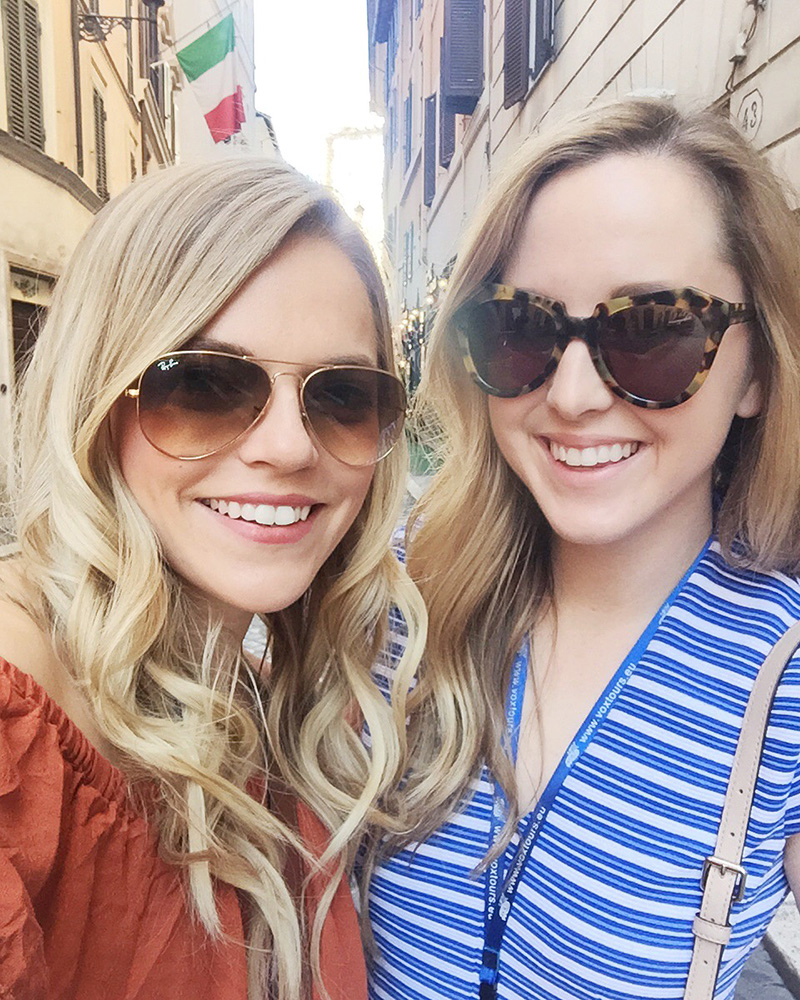 kristin clark and ashley aspinwall in rome, italy