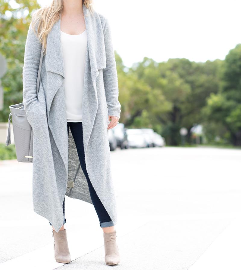 Oversized Grey Cardigan4