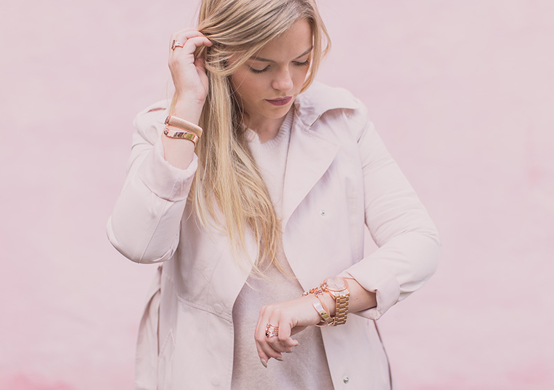 Pink Trench + Tous Jewels