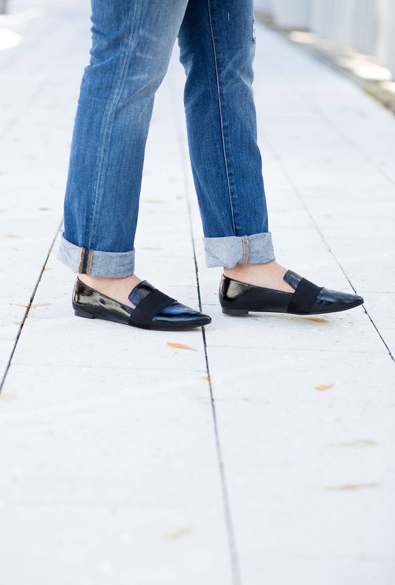 made well pointed patent loafers