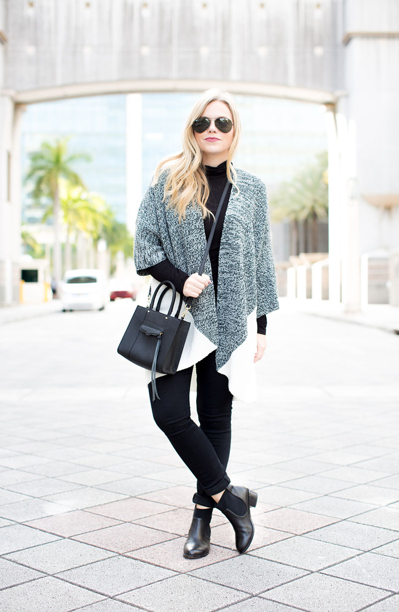 Colorblock black and white Cardigan