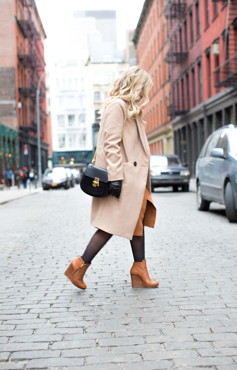 cognac and camel outfit