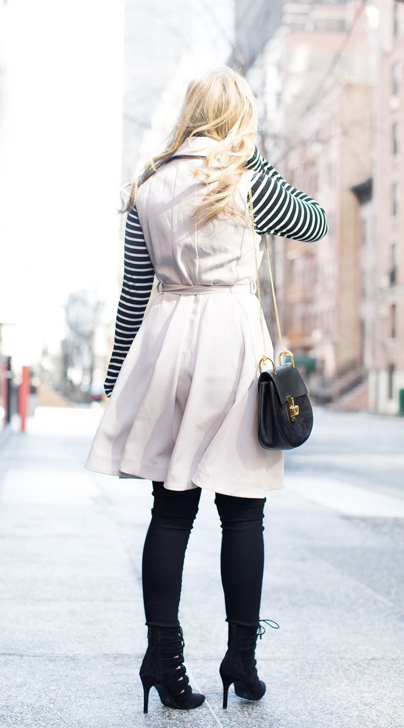sleeveless trench at new york fashion week