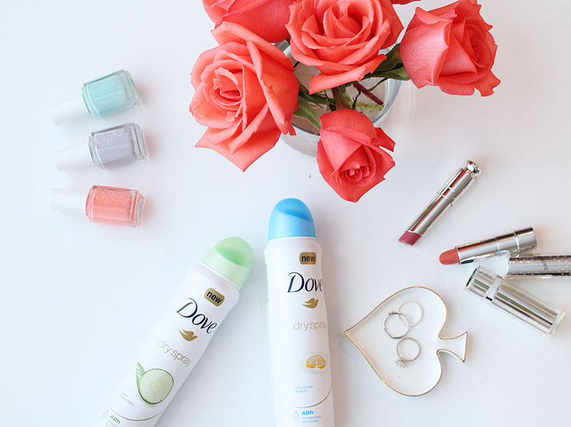 dove dry spray deodorant, new beauty favorites