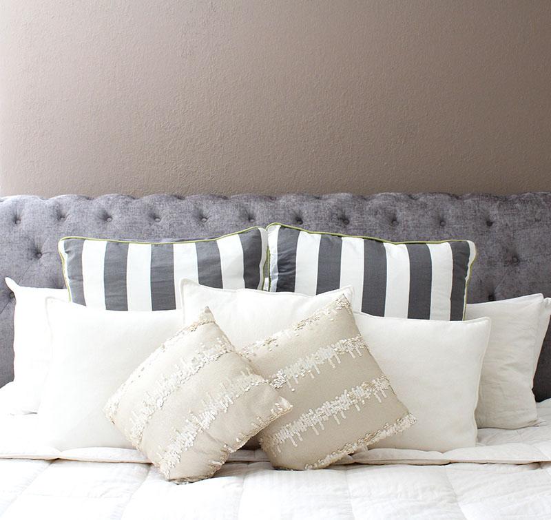 greys + browns master bedroom, ace hardware adobe hut
