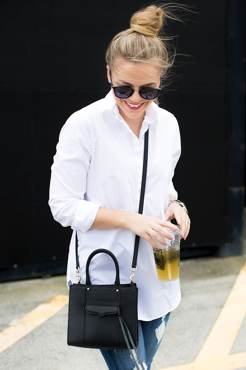 Casual Jeans + White Tunic
