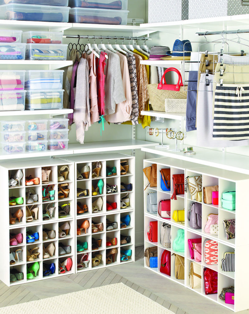 The container store, Clean, Uncluttered Closet
