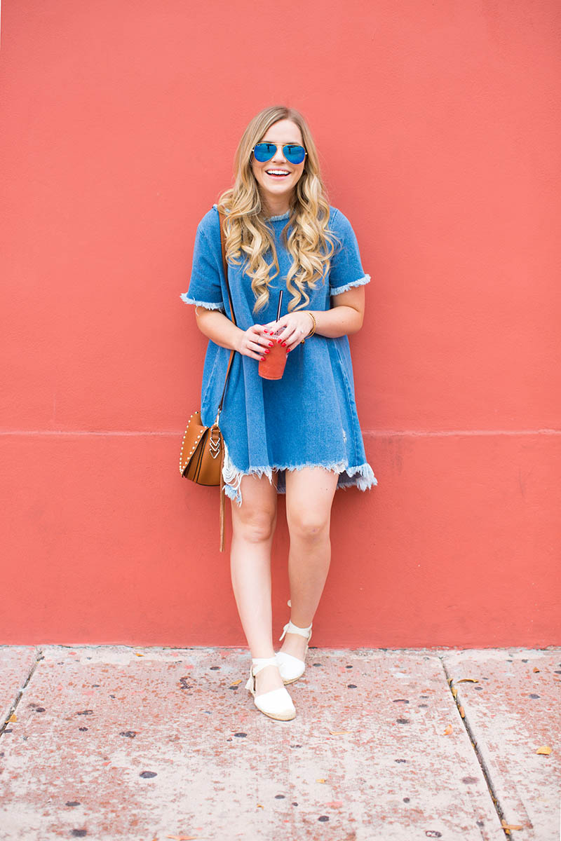 Denim T-Shirt Dress4