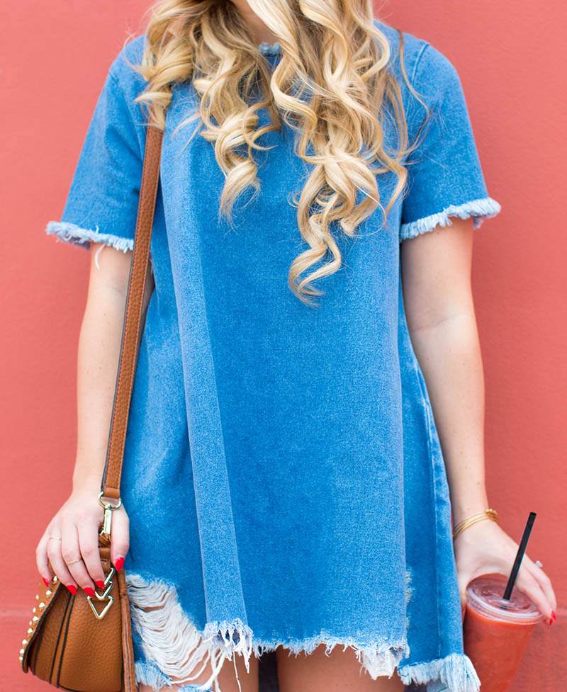Denim T-Shirt Dress5
