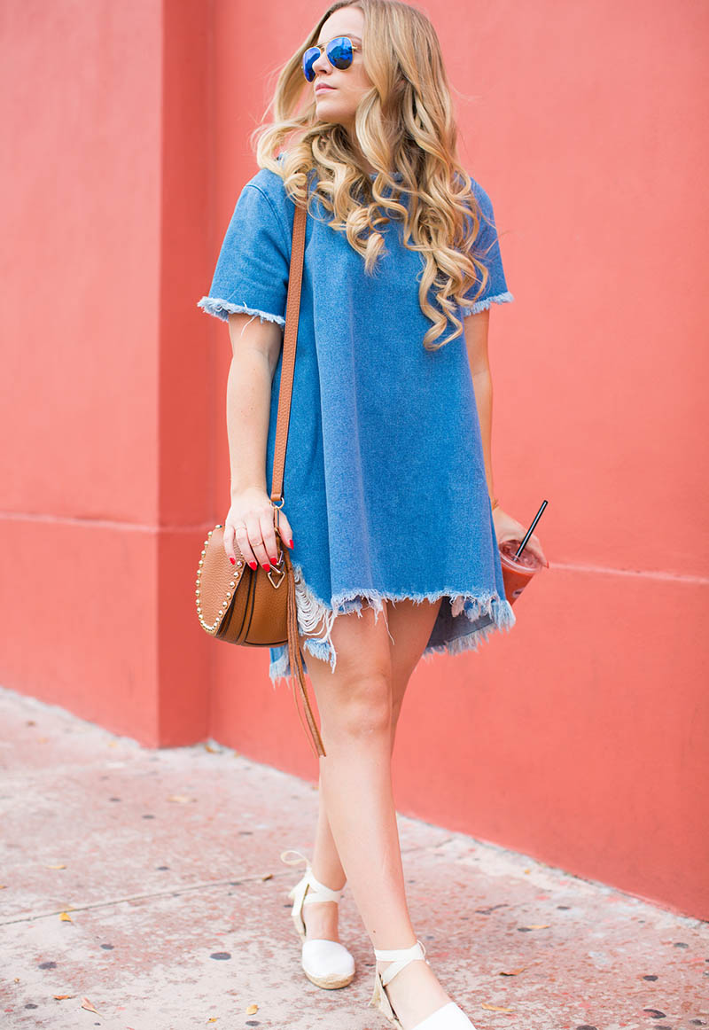Denim T-Shirt Dress6