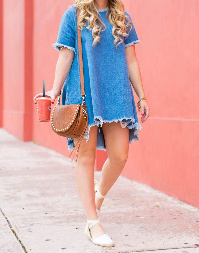 Denim T-Shirt Dress7