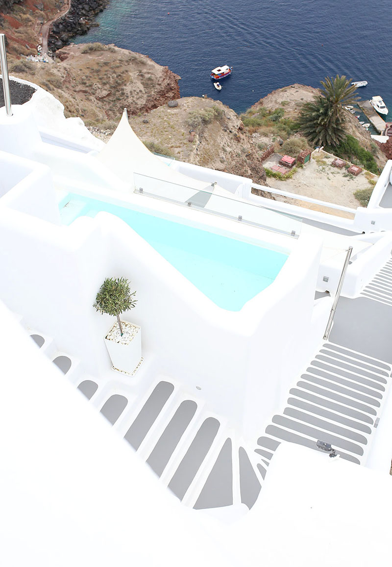 beautiful oil, santorini, greece hotel