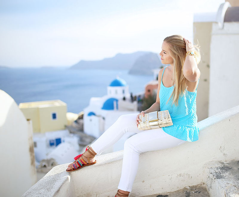 what to wear in Santorini, Greece