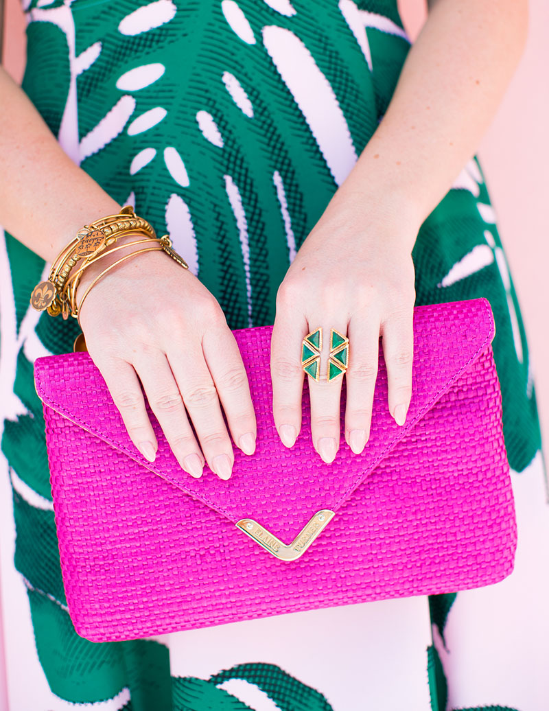 Hot Pink Envelope Clutch