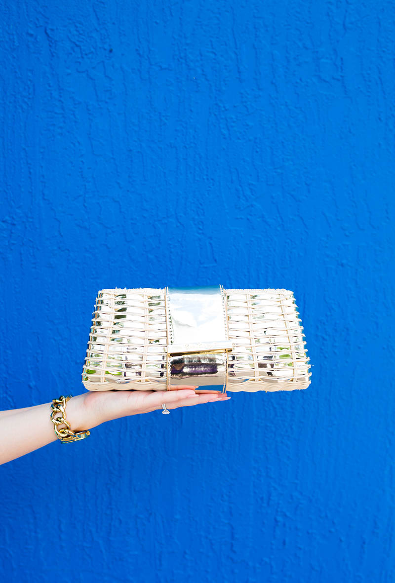 Lilly Pulitzer Metallic Woven Clutch