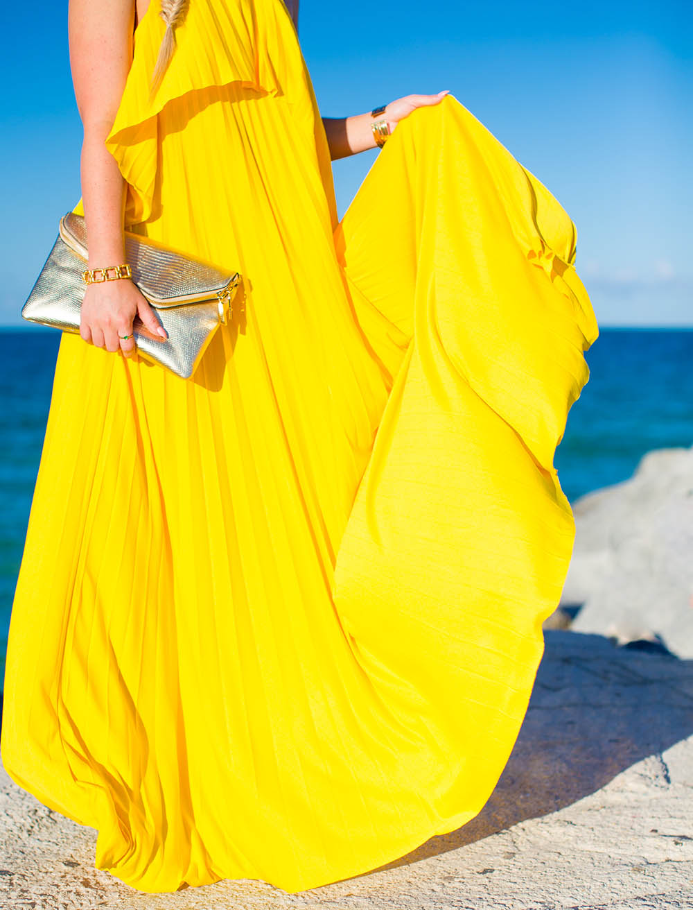 Yellow Maxi Dress | Living In Color Print