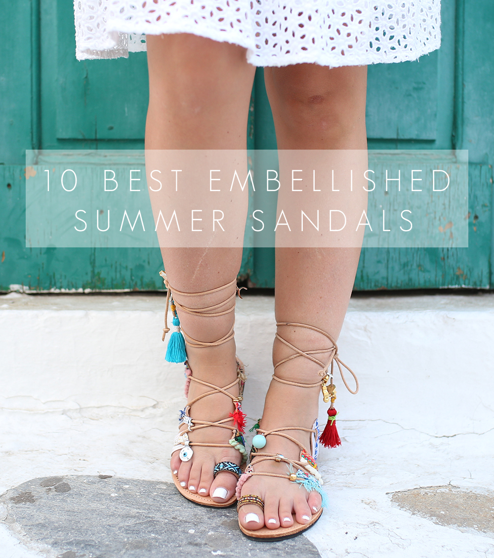 10 Best Embellished Summer Sandals