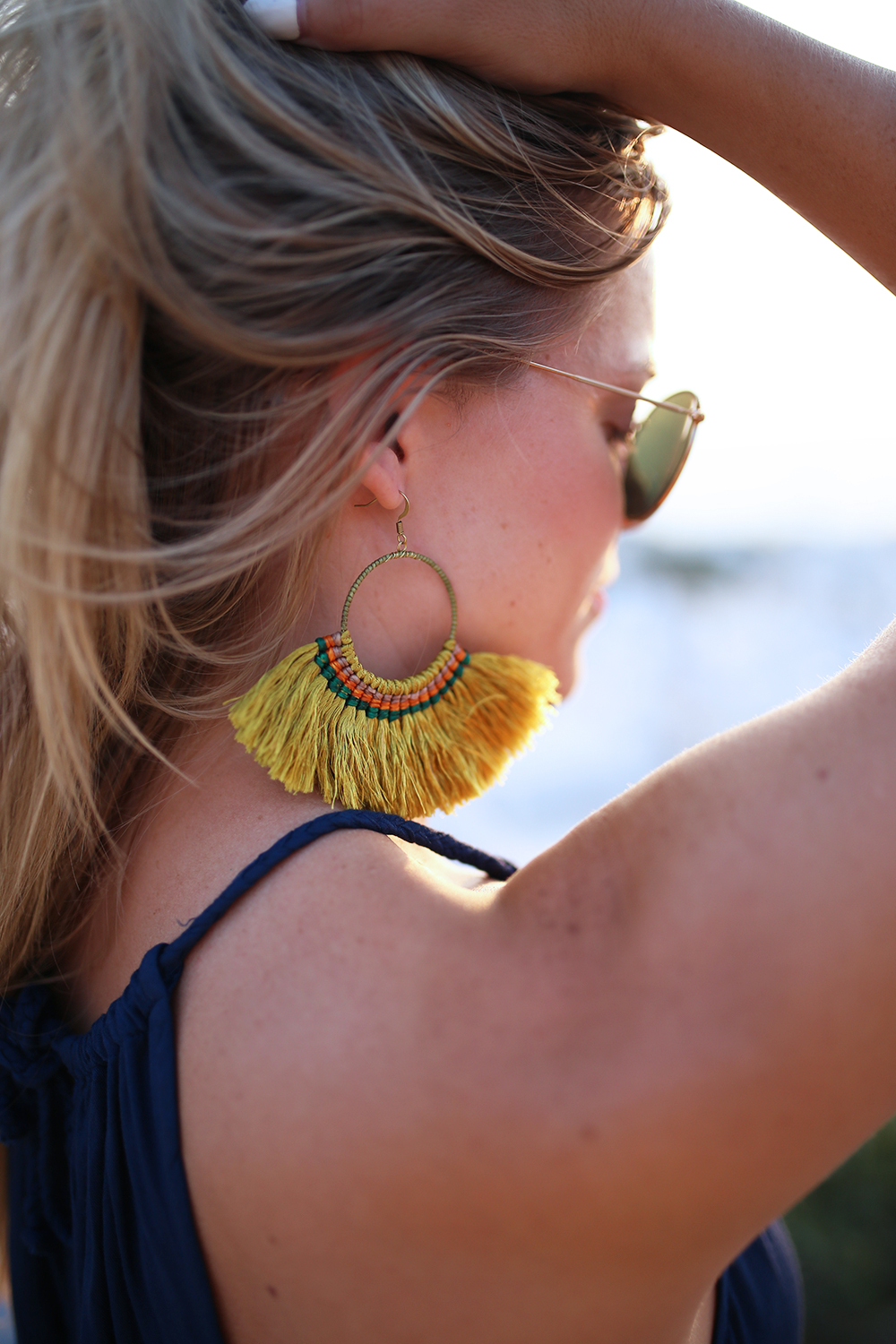 Large Fringe Tassel Earrings