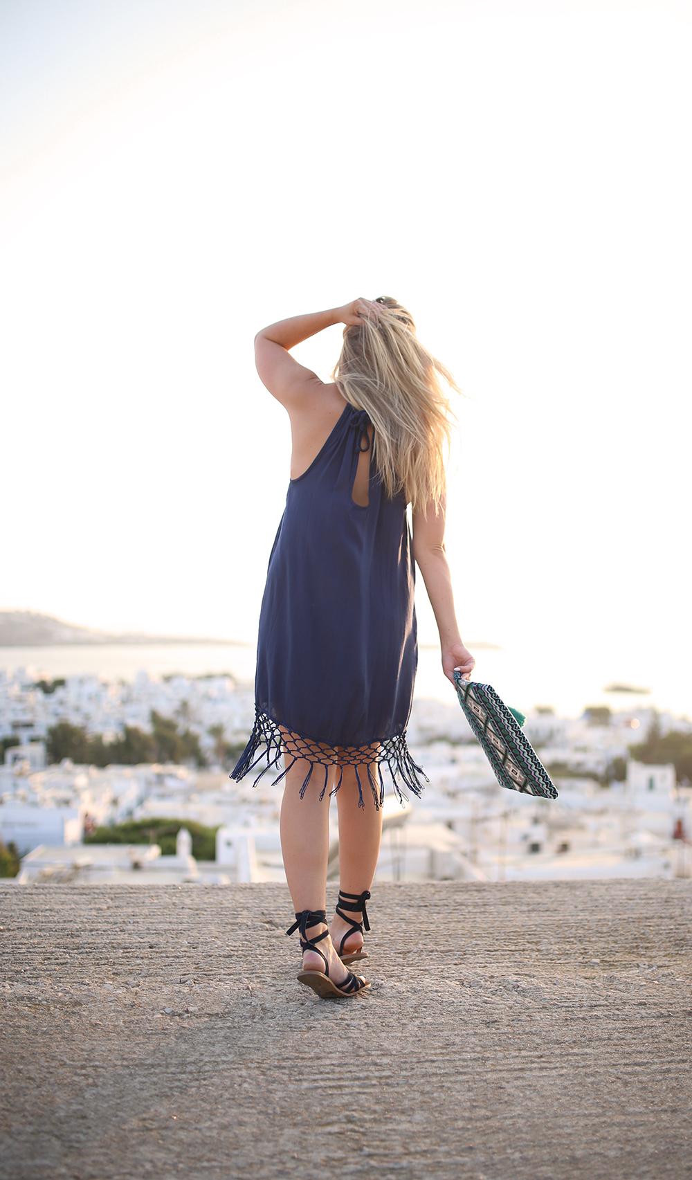 Navy Fringe in Mykonos