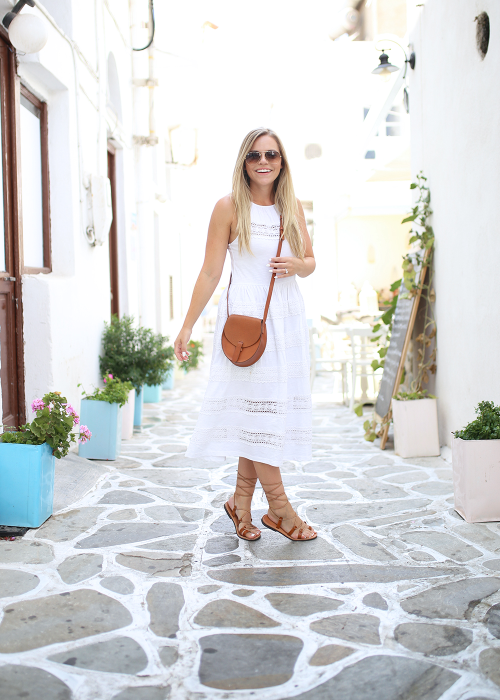 White Cotton Midi