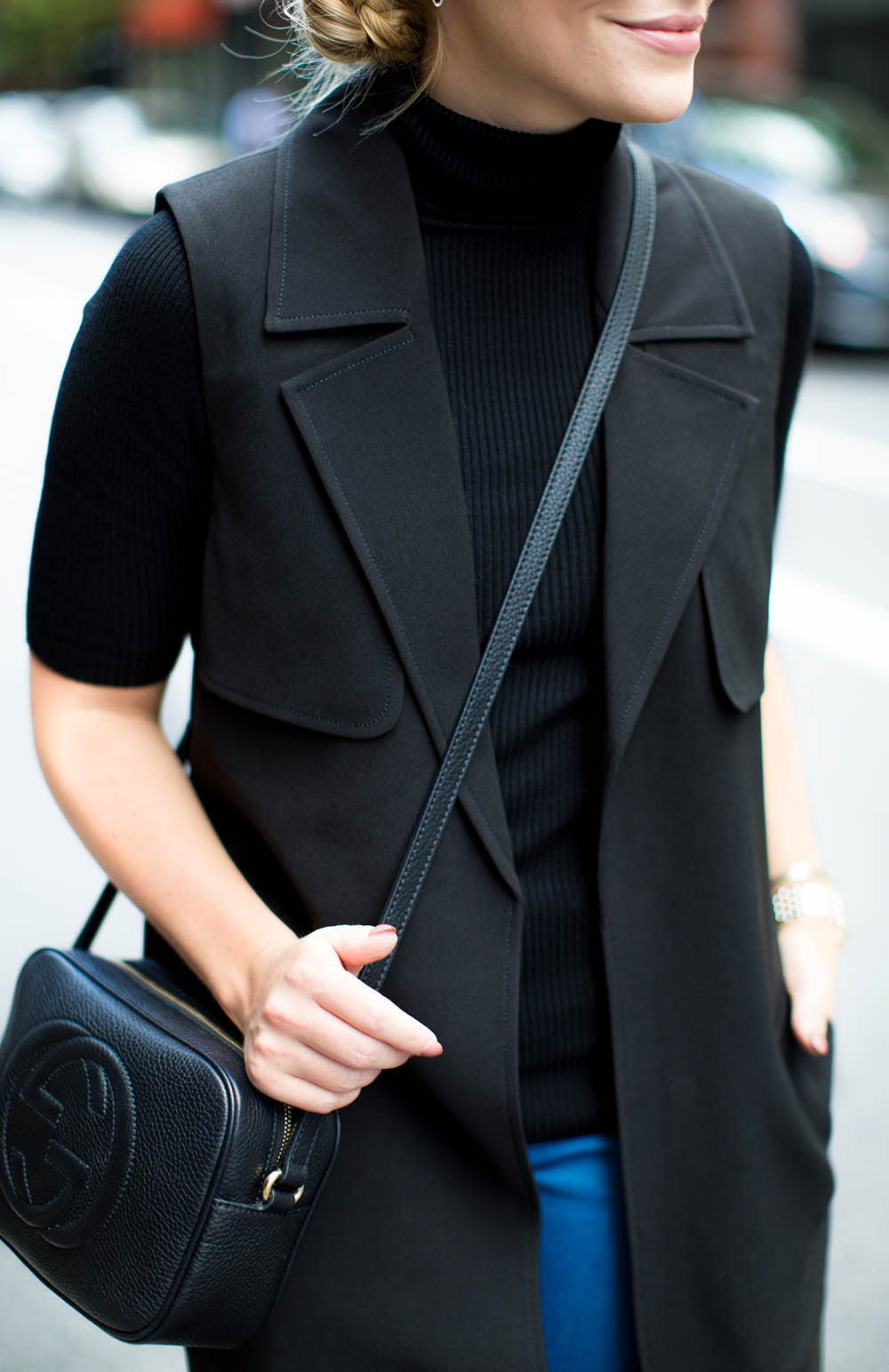 black sleepless duster + black turtleneck