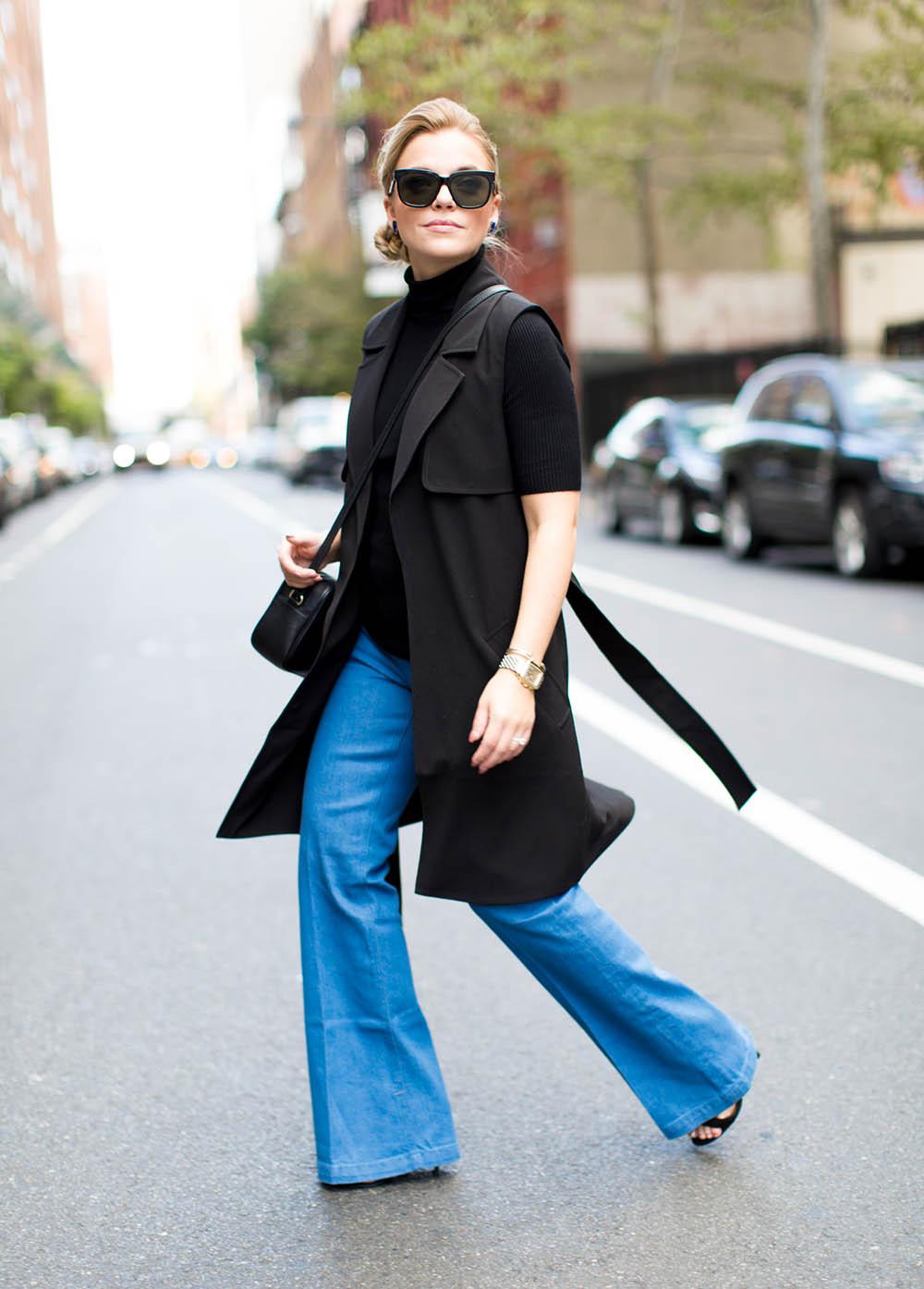 Cornblue Wide Leg Jeans