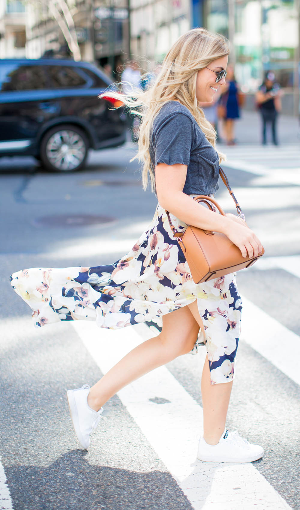 Floral Silk Skirt   Living In Color Print
