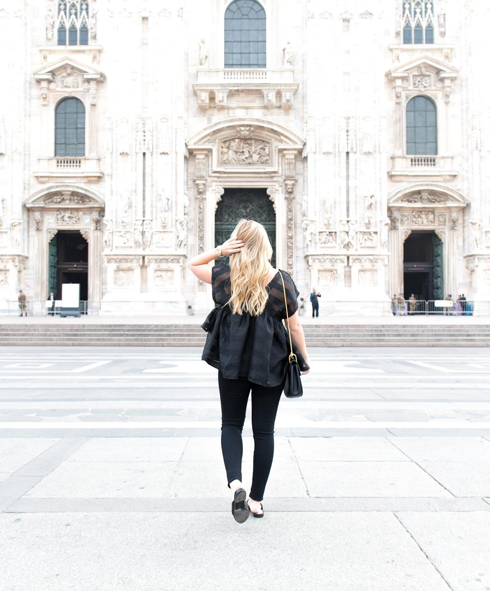 Black Organza at the Duomo