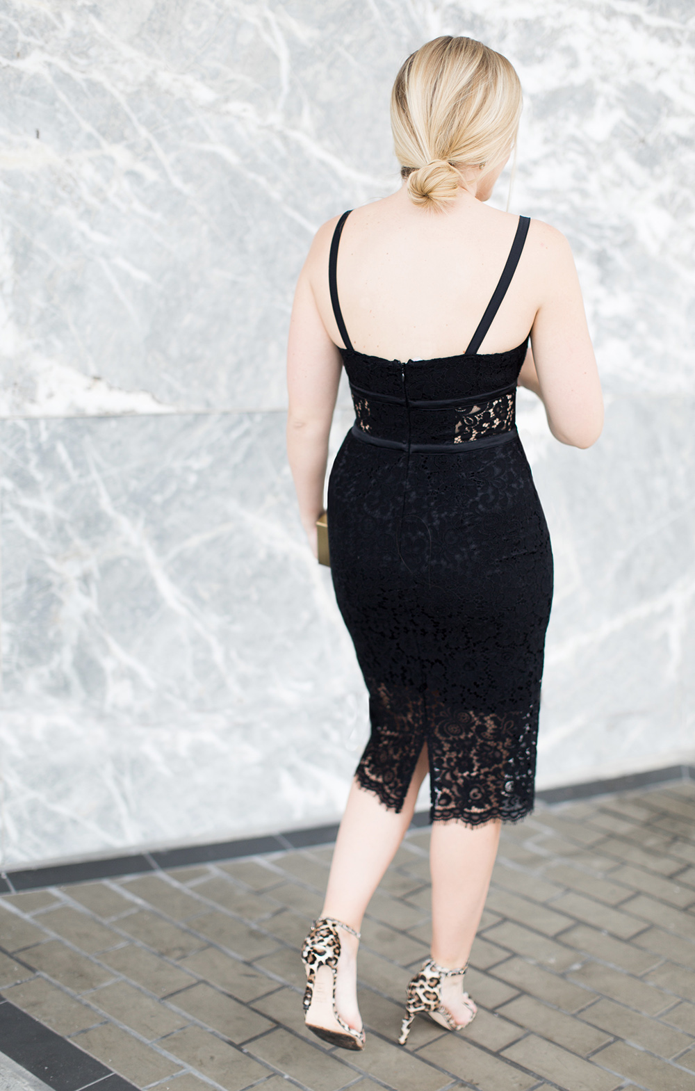 Express Black Lacey Dress + Giveaway