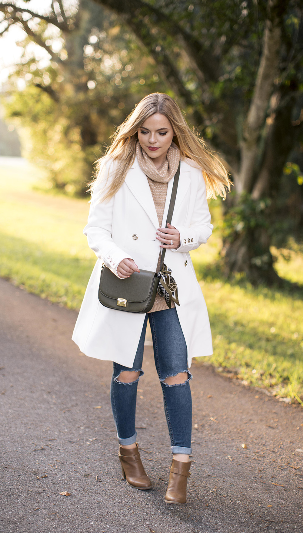 White Coat for Fall | Living In Color Print