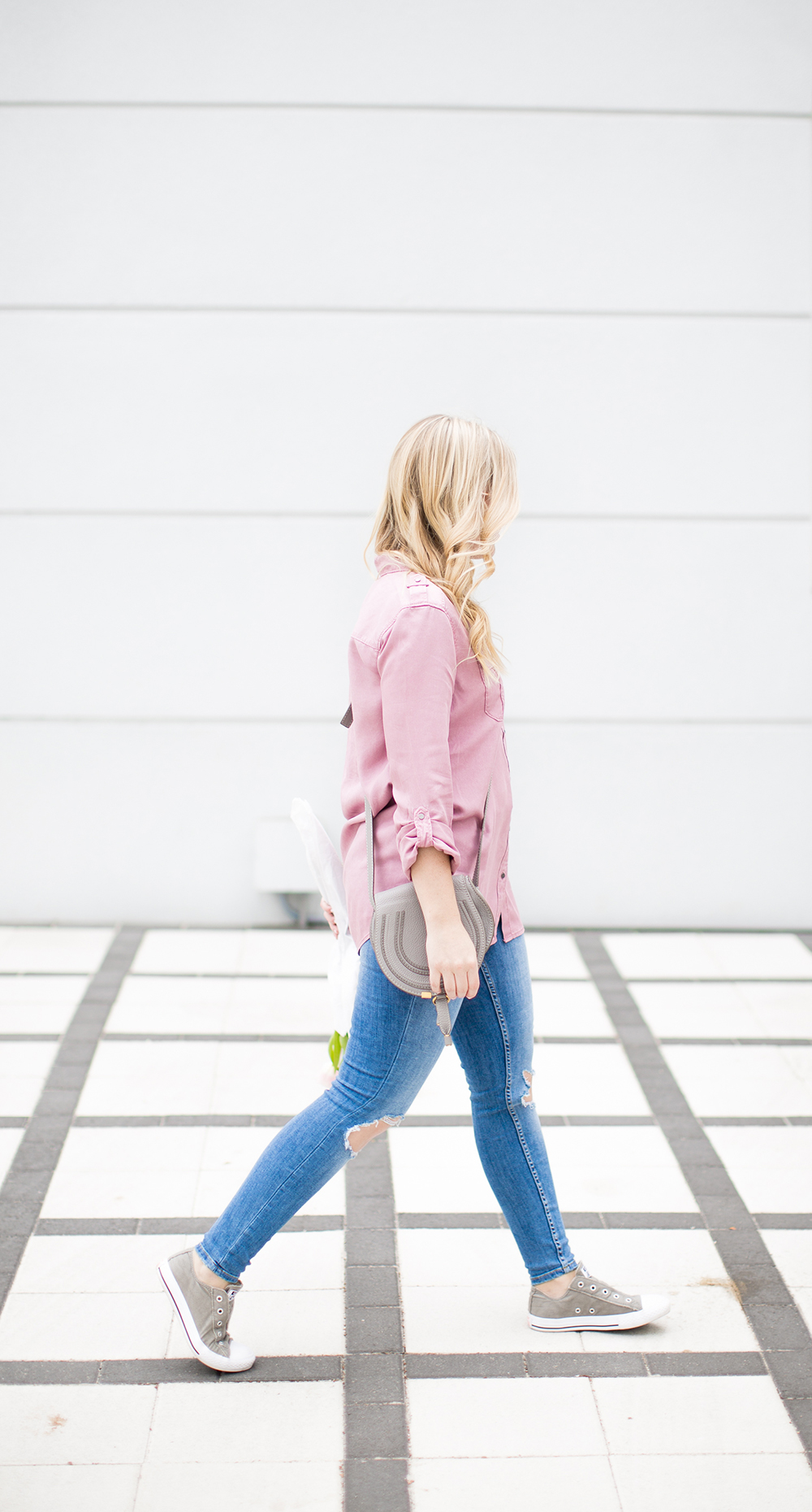 Dusty Rose Button Down
