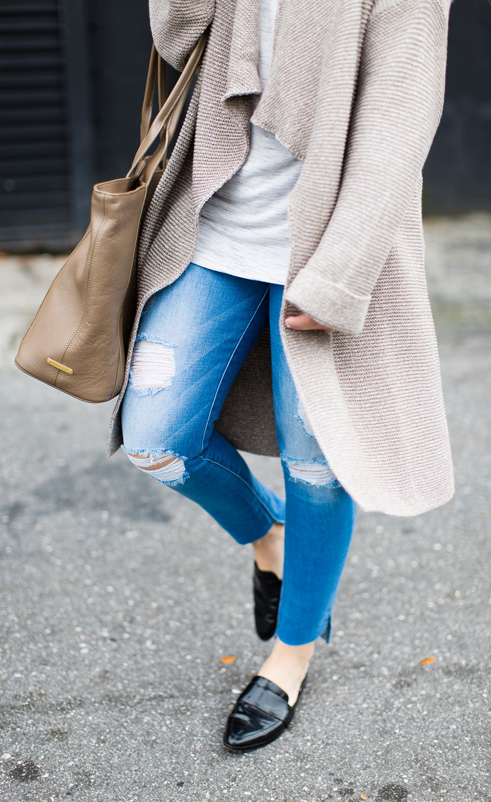 Oatmeal Cardigan | Living In Color Print