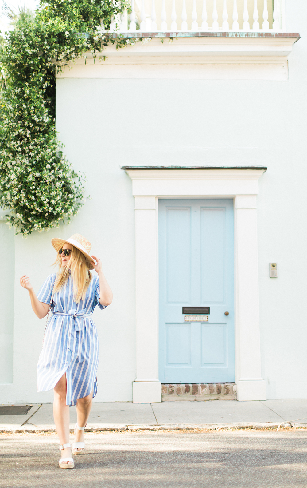 Blue Stripe Midi | Living In Color Print