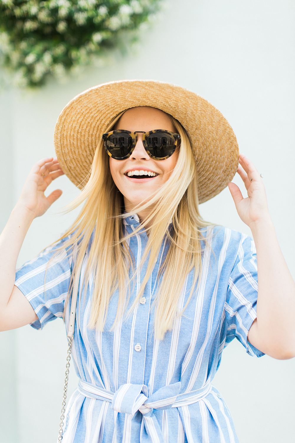 Blue Stripe + Sun Hat | Living In Color Print