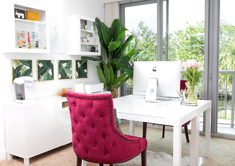 Palm + Pink Office
