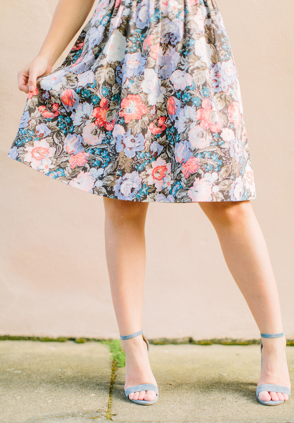 Flora Bow Back Dress | Living In Color Print