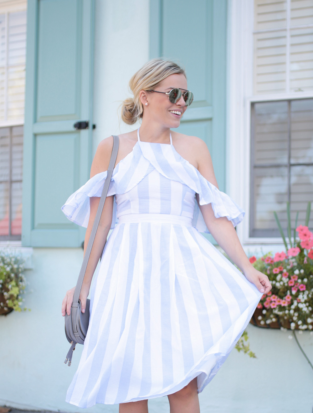 Stripe Dress on Rainbow Row