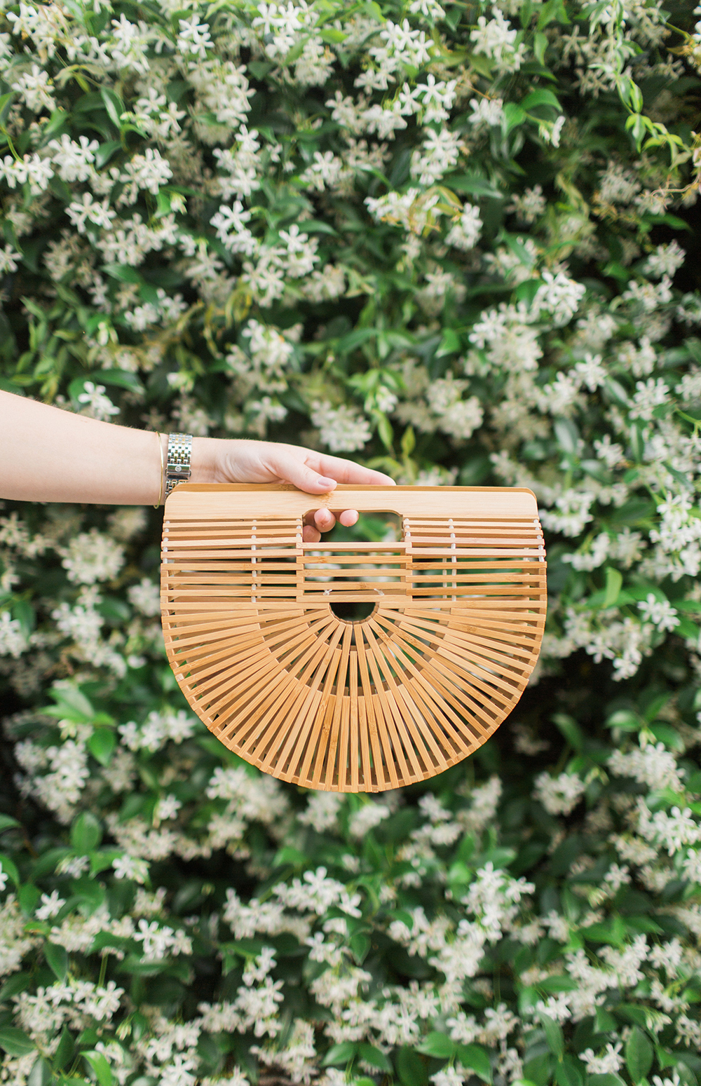 Cult Gaia Wicker Clutch Handbag