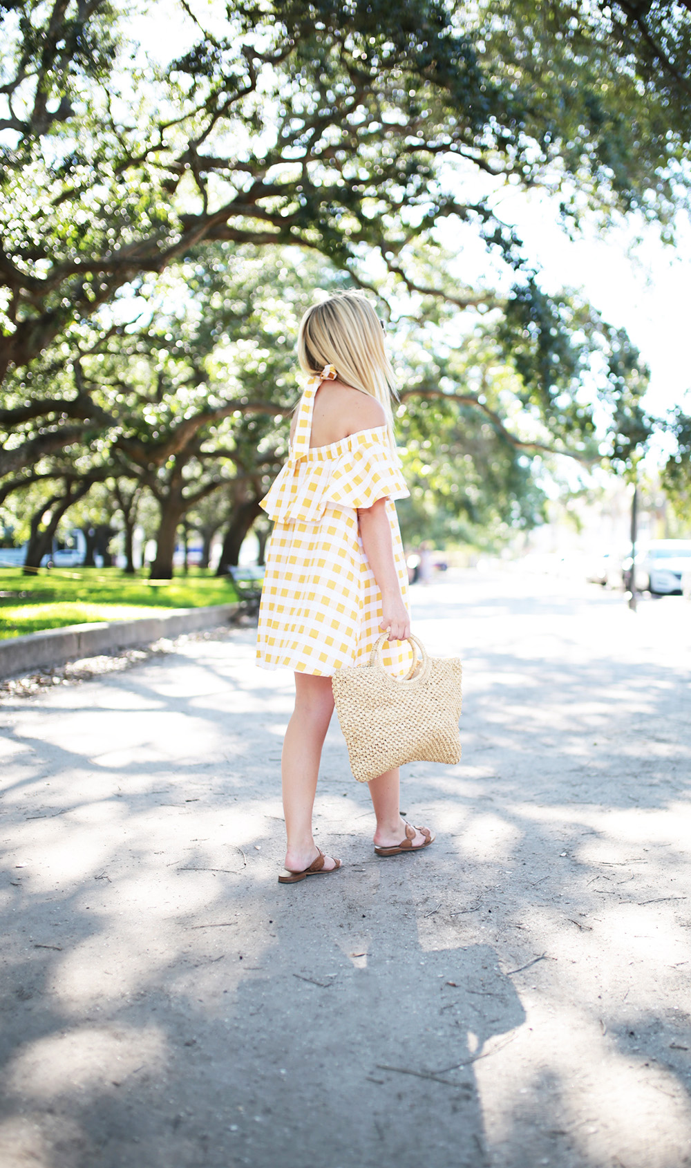 Yellow Gingham Swing Dress