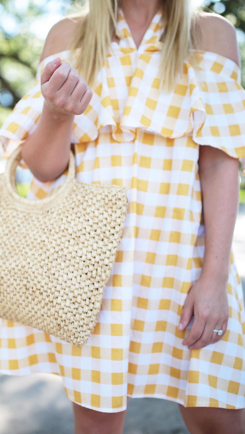 Yellow Gingham Swing Dress