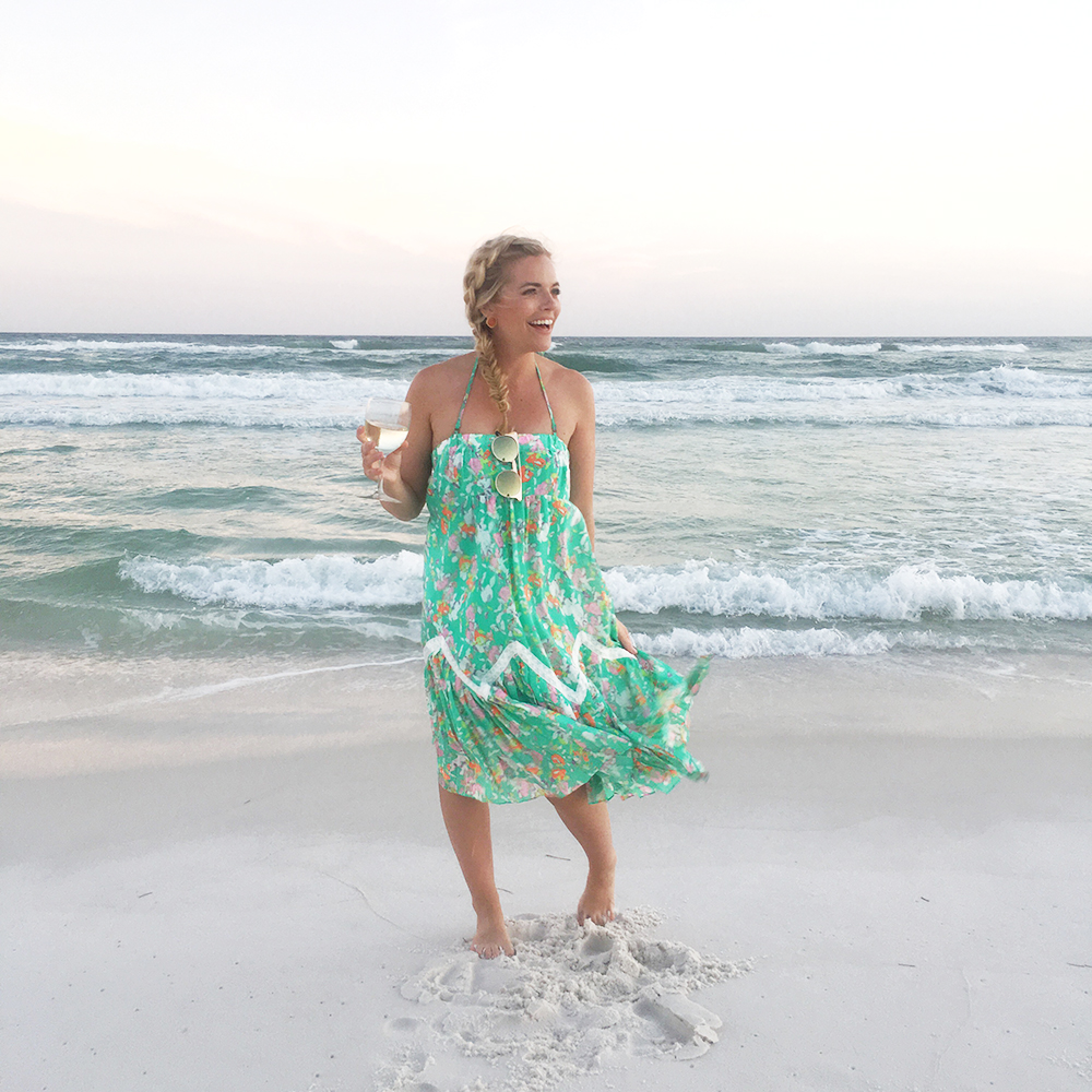 Green Floral Midi Coverup