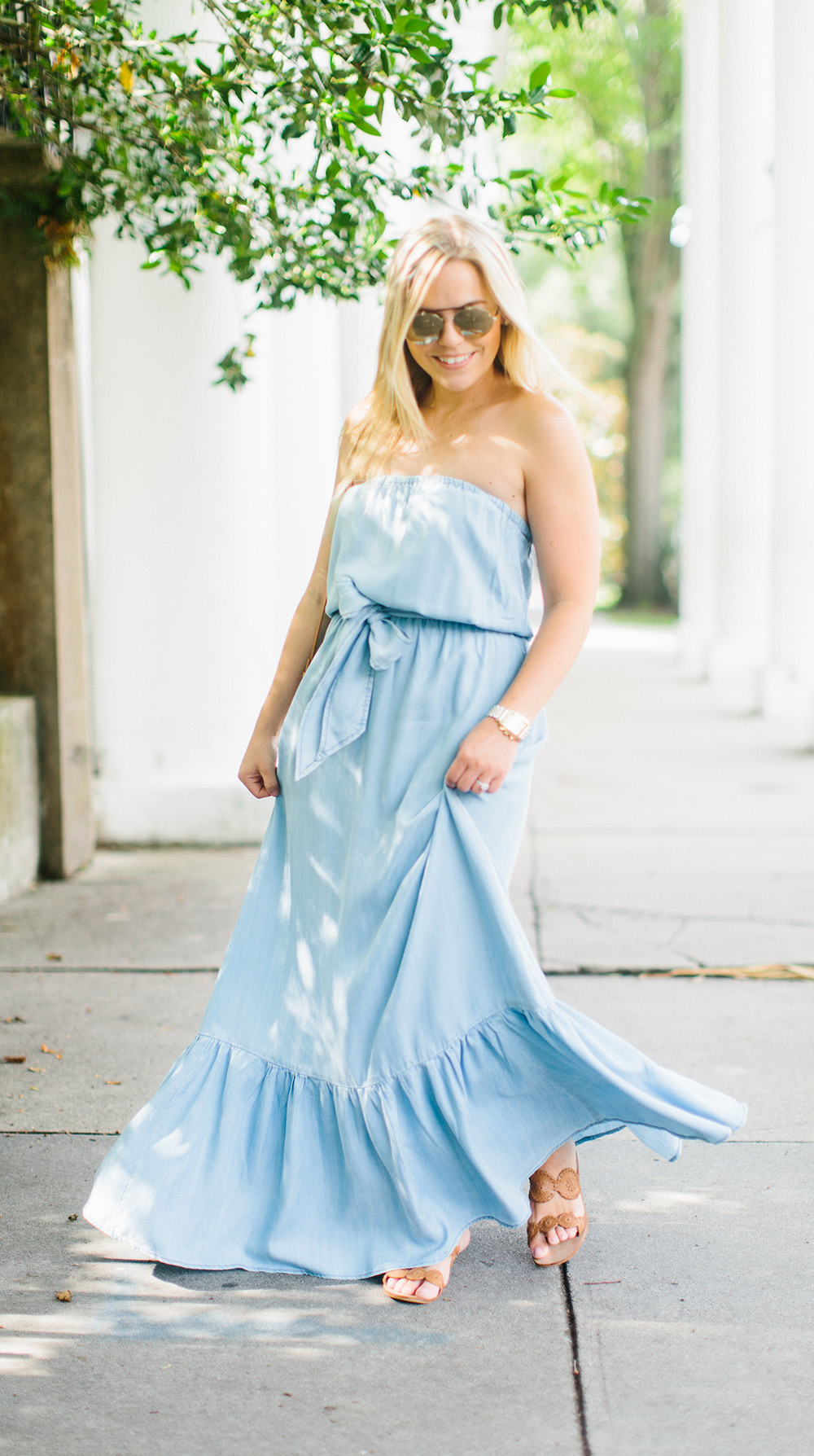 Chambray Column Maxi   Living In Color Print